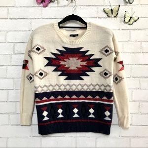 American Eagle Sweater Aztec Boho - Wool